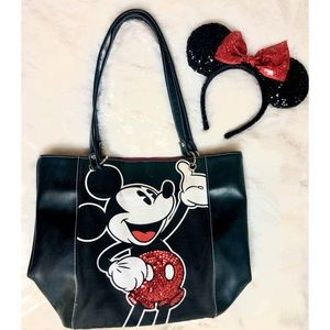 Disney Tote and Minnie Ears